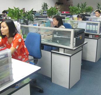 广州银帆礼品公司办公环境——员工办公区